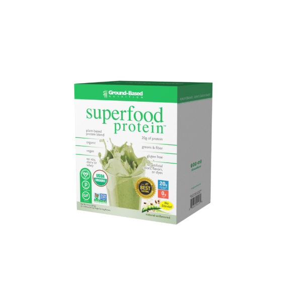 ground based nutrition superfood protein unflavored carton