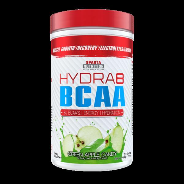 sparta nutrition hydra8 bcaa green apple