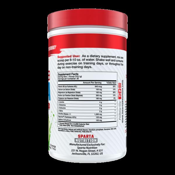 sparta nutrition hydra8 supplement facts