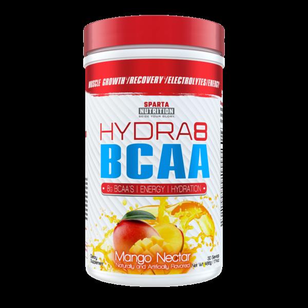 sparta nutrition hydra8 bcaa mango