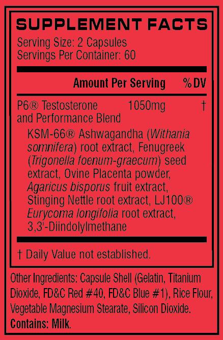 Cellucor P6 original testosterone booster